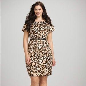 Roz and Ali Leopard Print Dress Size 12